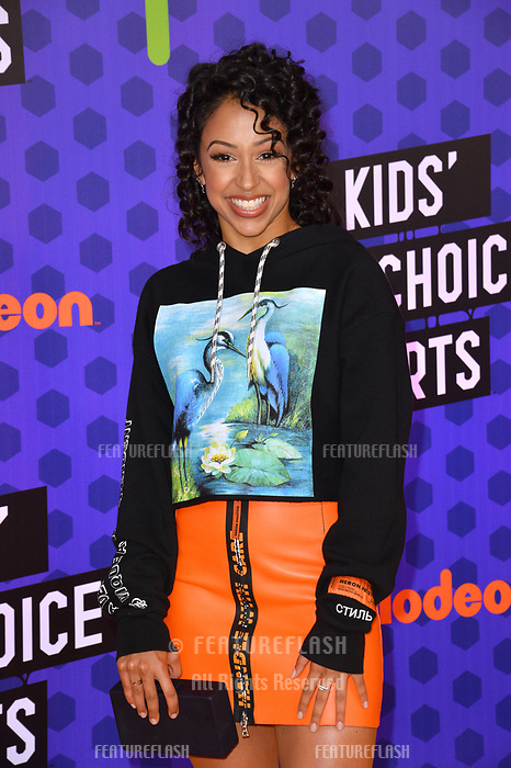 Liza Koshy at the Nickelodeon Kids' Choice Sports Awards 2018 at Barker Hangar, Santa Monica, USA 19 July 2018<br /> Picture: Paul Smith/Featureflash/SilverHub 0208 004 5359 sales@silverhubmedia.com