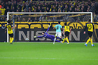 Football Champions League Group Phase 4 Matchday Borussia Dortmund Inter Milan on 05 11 2019 at Signal Iduna Park in Dortmund Goal to 0 2 by Matias Vecino Milan DFL Regulations prohibit any use of photographs as image sequences and or quasi video xRx<br /> Dortmund 5-11-2019 BVB Stadion <br /> Football Uefa Champions League 2019/2020 Group F Borussia Dortmund - FC Internazionale <br /> Photo Imago/Insidefoto