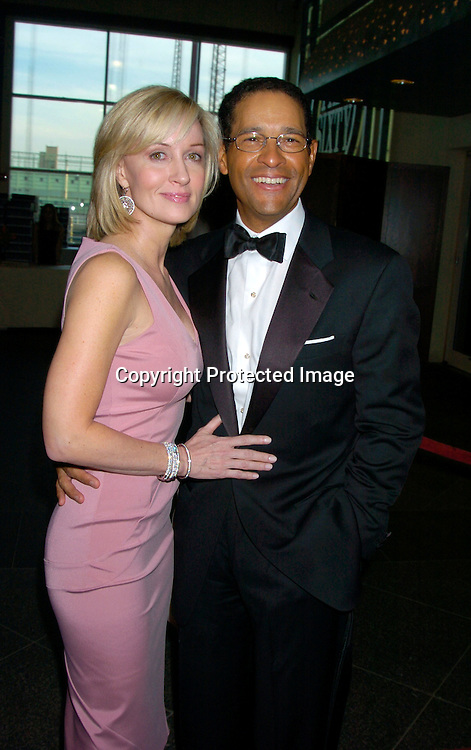 Bryant Gumbel and wife Hillary ..at the Arthur Ashe Institute for Urban Health Sportsball 2004 on April 29, 2004 at PIer Sixty at Chelsea PIers. ..People were told to wear Blcak tie and sneakers. ..Photo by Robin Platzer, Twin Images