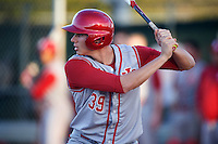 Indiana Hoosiers center fielder Craig Dedelow (39) at bat during a game against the Illinois State Redbirds on March 4, 2016 at North Charlotte Regional Park in Port Charlotte, Florida.  Indiana defeated Illinois State 14-1.  (Mike Janes/Four Seam Images)