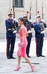 Queen Letizia of Spain arrives to Escorial Monastery.  July 23, 2019. (ALTERPHOTOS/Francis Gonzalez)