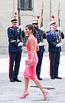 Queen Letizia of Spain arrives to Escorial Monastery.  July 23, 2019. (ALTERPHOTOS/Francis Gonzalez)