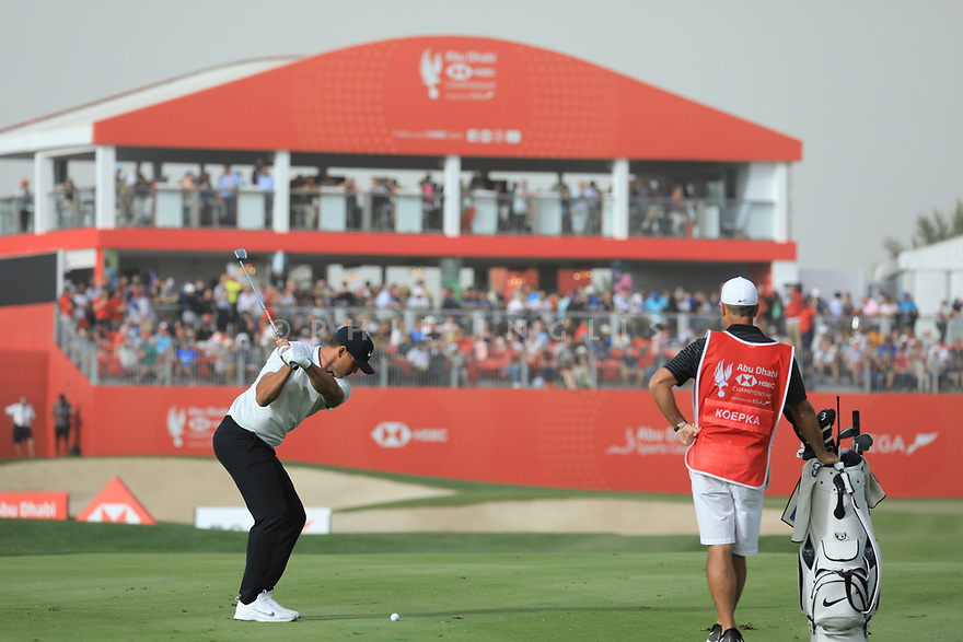 Brooks Koepka (USA) during the final round of the Abu Dhabi HSBC Championship presented by EGA played at Abu Dhabi Golf Club, Abu Dhabi, UAE. 19/01/2019<br /> Picture: Golffile | Phil Inglis<br /> <br /> All photo usage must carry mandatory copyright credit (© Golffile | Phil Inglis)