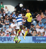 Blackburn Rovers' Elliott Bennett and Queens Park Rangers' Bright Osayi-Samuel<br /> <br /> Photographer Rob Newell/CameraSport<br /> <br /> The EFL Sky Bet Championship - Queens Park Rangers v Blackburn Rovers - Friday 19th April 2019 - Loftus Road - London<br /> <br /> World Copyright © 2019 CameraSport. All rights reserved. 43 Linden Ave. Countesthorpe. Leicester. England. LE8 5PG - Tel: +44 (0) 116 277 4147 - admin@camerasport.com - www.camerasport.com
