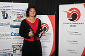 Manukau Courier Readers Choice Sports Person of the Year winner Valerie Vili. Counties Manukau Sport 17th annual Sporting Excellence Awards held at the Telstra Clear Pacific Events Centre, Manukau City, on November 27th 2008.