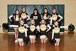 November 17, 2014- Tuscola, IL- The 2014-2015 Hornet Cheerleaders. Standing from left are Hannah Lemay, Sabrina Alcorn, sponsor Cassie Hardwick, Faith Hardwick, and Byona Lee. Kneeling from left are Emma Zimmer, Julia Kerkhoff, Abbie Heath, and Savannah Barnes. [Photo: Douglas Cottle]