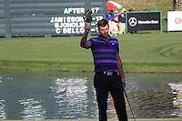 Scott Jamieson (SCO) on the 18th hole during Sunday's Final Round of the 2012 Omega Dubai Desert Classic at Emirates Golf Club Majlis Course, Dubai, United Arab Emirates, 12th February 2012(Photo Eoin Clarke/www.golffile.ie)