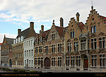 17th century Canal Houses, Sint-Annarei, Bruges, Brugge, Belgium