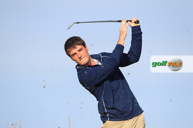 Dermot McElroy (Ballymena) on the 3rd tee during Round 3 Matchplay of the North of Ireland Amateur Open Championship at Royal Portrush, Dunluce Course on Thursday 16th July 2015.<br /> Picture:  Golffile | Thos Caffrey