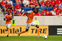 Warren Creavalle (5) of the Houston Dynamo. The New York Red Bulls defeated the Houston Dynamo 2-0 during a Major League Soccer (MLS) match at Red Bull Arena in Harrison, NJ, on June 30, 2013.