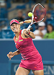 Angelique Kerber of Germany wins in the semifinals at the Western & Southern Open in Mason, OH on August 18, 2012.