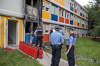 2016/08/08 Berlin | Brandanschlag auf Flüchtlingsunterkunft