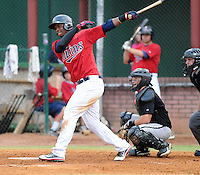 Infielder Miguel Sano (11) of the Elizabethton Twins, Appalachian League affiliate of the Minnesota Twins, in a game against the Bristol White Sox on August 18, 2011, at Joe O'Brien Field in Elizabethton, Tennessee. Sano was named to the 2011 Appalachian League Postseason All-Star Team. (Tom Priddy/Four Seam Images)