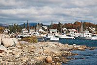 Bass Harbor fishing village, Mount Desert Island, Maine, ME, USA