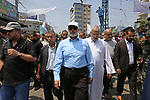 Hamas leader Ismail Haniya attends the funeral of Nidal al-Jaafari, a 28-year-old field commander who was killed overnight in a suicide attack that targeted forces near the Gaza Strip's crossing with Egypt, in Rafah, southern Gaza Strip August 17, 2017. Photo by Ashraf Amra