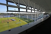 General view of the ground from the media centre during Warwickshire CCC vs Essex CCC, Specsavers County Championship Division 1 Cricket at Edgbaston Stadium on 12th September 2017