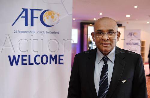 25.02.2016. Zurich, Switzerland. Fifa AFC Confederation luncheon at the Marriott hotel.  DATO WINDSOR JOHN (AFC GENERAL SECRETARY)