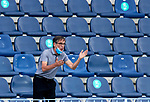 Fernando Vazquez head coach (RC Deportivo de la Coruna) gestures during La Liga Smartbank match round 39 between Malaga CF and RC Deportivo de la Coruna at La Rosaleda Stadium in Malaga, Spain, as the season resumed following a three-month absence due to the novel coronavirus COVID-19 pandemic. Jul 03, 2020. (ALTERPHOTOS/Manu R.B.)