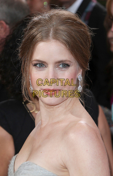 Amy Adams.85th Annual Academy Awards held at the Dolby Theatre at Hollywood & Highland Center, Hollywood, California, USA..February 24th, 2013.oscars headshot portrait strapless side grey gray.CAP/ADM/SLP/COL.©Colin/StarlitePics/AdMedia/Capital Pictures