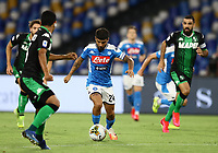 25th July 2020; Stadio San Paolo, Naples, Campania, Italy; Serie A Football, Napoli versus Sassuolo; Lorenzo Insigne of Napoli gets his shot on goal