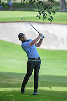 Tyrrell Hatton (ENG) watches his second shot from the trees on 12 land on the green during round 2 of the World Golf Championships, Mexico, Club De Golf Chapultepec, Mexico City, Mexico. 2/22/2019.<br /> Picture: Golffile | Ken Murray<br /> <br /> <br /> All photo usage must carry mandatory copyright credit (&copy; Golffile | Ken Murray)