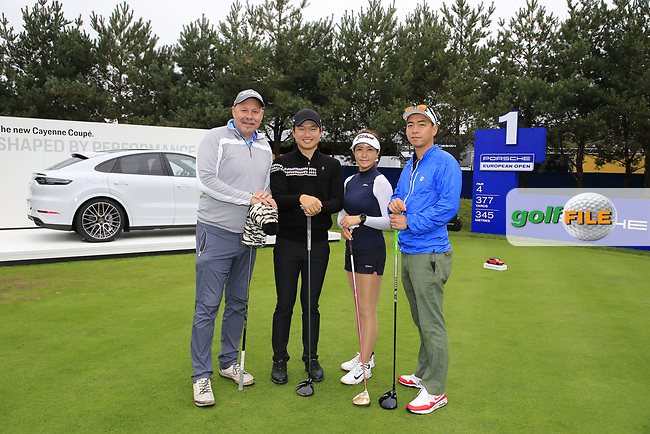 Jeunghun  Wang (KOR) team during the Pro-Am at the  Porsche European Open, Green Eagles Golf Club, Luhdorf, Winsen, Germany. 04/09/2019.<br /> Picture Fran Caffrey / Golffile.ie<br /> <br /> All photo usage must carry mandatory copyright credit (© Golffile | Fran Caffrey)