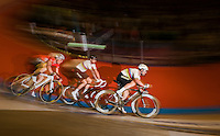 Madison World Champions Mark Cavendish (GBR/Dimension Data) & Sir Bradley Wiggins (GBR/Wiggins) in full swing<br /> <br /> 2016 Gent 6<br /> day 5