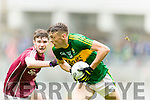 David Clifford Kerry in action against Sean Mulkerrin  Galway in the All Ireland Minor Football Final in Croke Park on Sunday.