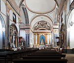 Interior of historic Roman Catholic church Igreja de Santa Maria da Devesa,  Castelo de Vide, Alto Alentejo, Portugal, southern Europe built 1789