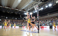 04.09.2016 Action during the Netball Quad Series match between the Silver Ferns and Australia played at Margaret Court Arena in Melbourne. Mandatory Photo Credit ©Michael Bradley.