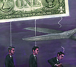 Illustration of businessmen being fired