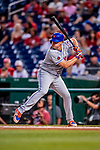 21 September 2018: New York Mets outfielder Jay Bruce in action against the Washington Nationals at Nationals Park in Washington, DC. Bruce went 2 for 4 with 2 RBIs, as the Mets defeated the Nationals 4-2 in the second game of their 4-game series. Mandatory Credit: Ed Wolfstein Photo *** RAW (NEF) Image File Available ***