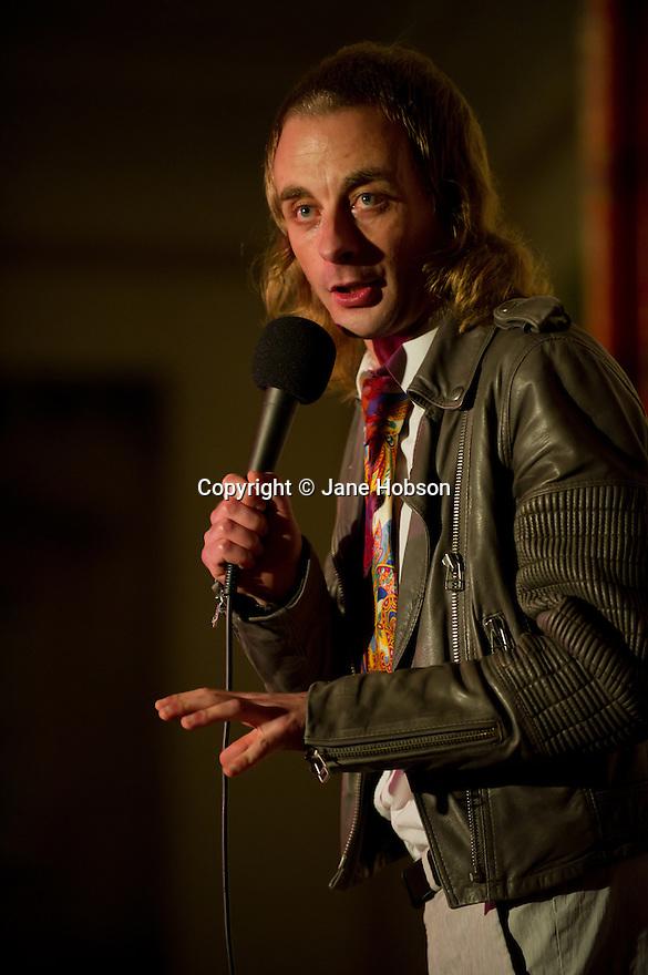 "Harrogate, UK. 20/07/2011. ""Sitting Room"" comedy club at St George Hotel, Harrogate. Paul Foot headlines. Photo credit: Jane Hobson"