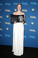BEVERLY HILLS, CA - FEBRUARY 3: Greta Gerwig   in the press room at the 70th Annual Directors Guild of America Awards (DGA, DGAs),  at The Beverly Hilton Hotel in Beverly Hills, California on February 3, 2018.  <br /> CAP/MPI/FS<br /> &copy;FS/Capital Pictures