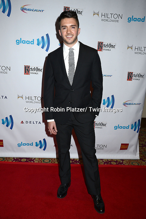 Blake Skjellerup attends the 25th Annual GLAAD Media Awards at the Waldorf Astoria Hotel in New York City, NY on May 3, 2014.