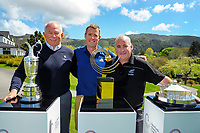 From left, Marty Scott, Chris Upton and Dean Murphy. 2017 Asia-Pacific Amateur Championship Media and Partner Golf Day at Royal Wellington Golf Club in Wellington, New Zealand on Monday, 16 October 2017. Photo: Dave Lintott / lintottphoto.co.nz