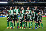 Players of Real Betis line up and pose for a photo prior to the La Liga match between Real Madrid and Real Betis at the Santiago Bernabeu Stadium on 12 March 2017 in Madrid, Spain. Photo by Diego Gonzalez Souto / Power Sport Images