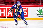 Stockholm 2014-05-03 Ishockey Oddset Hockey Games  Sverige - Finland :  <br /> Sveriges Linus Klasen <br /> (Foto: Kenta J&ouml;nsson) Nyckelord:  Oddset Hockey Games Sverige Swe Tre Kronor Finland Fin Globen Ericsson Globe Arena portr&auml;tt portrait