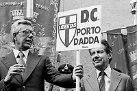 - Arnaldo Forlani e Flaminio Piccoli (DC), festa dell'Amicizia a Trento, 1981....- Arnaldo  Forlani and Flaminio Piccoli (DC, Christian Democratic Party), Fest of the Friendship in Trento, 1981