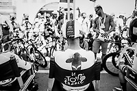 Chris Froome (GBR/SKY) waiting for the start <br /> <br /> Stage 3 (Team Time Trial): Cholet > Cholet (35km)<br /> <br /> 105th Tour de France 2018<br /> ©kramon
