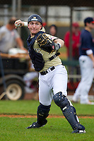 Notre Dame Fighting Irish catcher Alex Carter #39 during warmups before a game against the Illinois Fighting Illini at the Big Ten/Big East Challenge at Walter Fuller Complex on February 17, 2012 in St. Petersburg, Florida.  (Mike Janes/Four Seam Images)