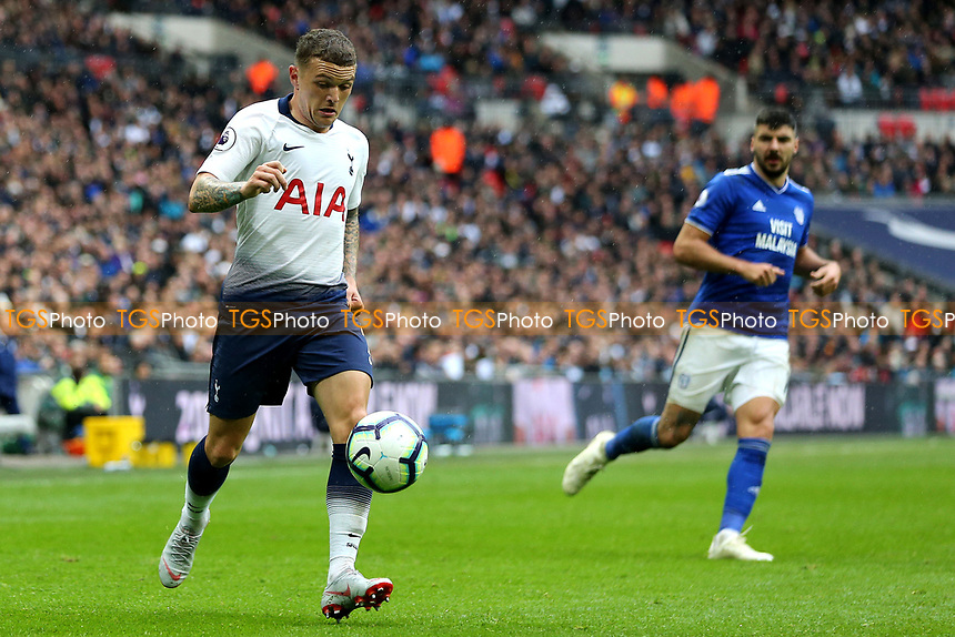Kieran Trippier of Tottenham Hotspur during Tottenham Hotspur vs Cardiff City, Premier League Football at Wembley Stadium on 6th October 2018