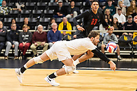 Long Beach, CA - March 8, 2019.   Cal State Long Beach defeated Stanford 3-0 in men's volleyball.