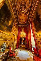 Apartment, Napoleon III, Louvre Museum, Paris, France.