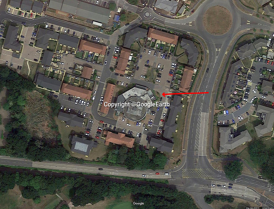 BNPS.co.uk (01202 558833)<br /> Pic: GoogleEarth<br /> <br /> The building is now surrounded by a housing estate.<br /> <br /> Sci-fi 'Centrifuge' to open its doors to the public after 64 years...<br /> <br /> A remarkable Cold War relic which has put thousands of pilots through their G-force paces has made its final spin after six decades. <br /> <br /> The Top Secret building at the former RAE Farnborough test site is now open to the public for guided tours led by the scientists from FAST who used to work there.<br /> <br /> The Farnborough Centrifuge was used to simulate huge 9G forces - nine times more than a human body is designed to absorb - they would encounter while flying fast jets during combat operations.<br /> <br /> The pilot would sit in a small compartment replicating a cockpit at the end of the 60ft rotating arm and be propelled at over 60mph, spinning 30 times a minute.<br /> <br /> A staggering 122,133 tests were performed on it before it was decommissioned in March this year, with a new centrifuge installed at RAF Cranwell.<br /> <br /> It featured on an episode of Top Gear in 2000 when Jeremy Clarkson had a go on it at 3G, leaving him in obvious discomfort. He described the force exerted on him as like 'having an elephant sat on my chest'.<br /> <br /> The centrifuge, which is being displayed for the public for the first time, also appeared in the 1985 comedy film Spies Like Us starring Chevy Chase and Dan Ackroyd.