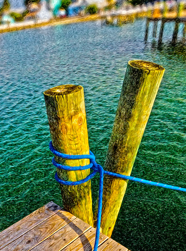 Close up of Abaco Dock image.<br /> <br /> Please close window to return to Gallery