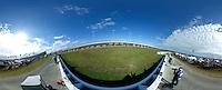 Turn 4 action, 360 degree panorama, Daytona 500, Daytona International Speedway, February 21, 2016.  (Photo by Brian Cleary/ www.bcpix.com )