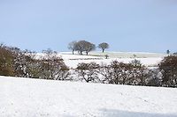 Wednesday 14 January 2015<br /> Pictured: Snow covered Machen Mountain<br /> RE: Machen mountain, Caerphilly, Wales covered in snow.