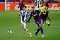 8th July 2020; Camp Nou, Barcelona, Catalonia, Spain; La Liga Football, Barcelona versus Espanyol;  Marc Roca turns away from the challenge by Lenglet