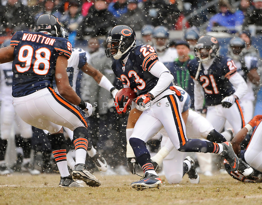 DEVIN HESTER, of the Chicago Bears in action durIng the Bears game against the Seattle Seahawks at Soldier Field on January 16, 2011 in Chicago, IL.. .Bears beat the Seahawks 35-24